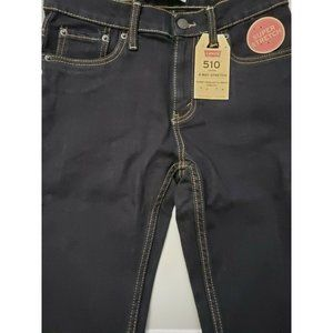 Levi's 510 Boys Blue Jeans Size 14 27W 27L Skinny